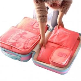Tas Travel Bag in Bag Organizer 6 in 1 - Navy Blue - 3