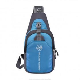 JINHUODA Outdoor Tas Selempang Outdoor Crossbody Bag - WYK16 - Blue - 2