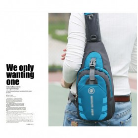 JINHUODA Outdoor Tas Selempang Outdoor Crossbody Bag - WYK16 - Blue - 3