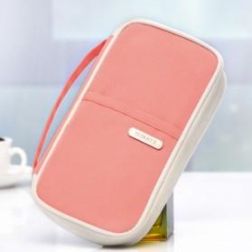 Dompet Paspor dan Kartu - Pink