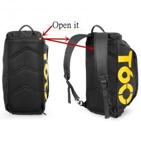 Tas Ransel dan Duffel Gym Bag - T60 - Black - 7