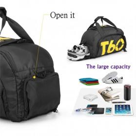Tas Ransel dan Duffel Gym Bag - T60 - Black - 8