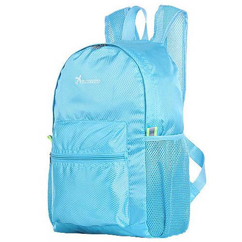 Tas Ransel Lipat Travel Portable Backpack - Blue - 1 .
