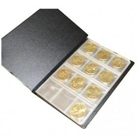 World Coin Stock Dompet Album Koleksi Koin 120 Slot - Black - 5