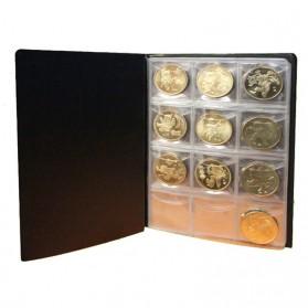 World Coin Stock Dompet Album Koleksi Koin 120 Slot - Black - 6