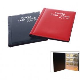 World Coin Stock Dompet Album Koleksi Koin 120 Slot - Black - 7