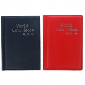 World Coin Stock Dompet Album Koleksi Koin 120 Slot - Black - 8