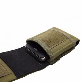Tas Pinggang Smartphone Tactical Holster - HW1252-01 - Black - 6