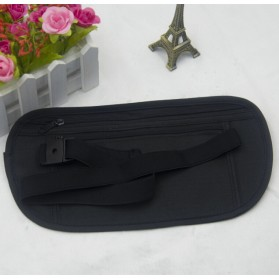 Tas Pinggang Hidden Travel Pouch Waterproof - Black