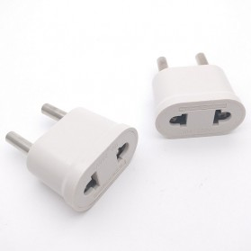 Perlengkapan Traveling - Adapter dan Konverter Travel US to EU 1 PCS - WN-20 - White