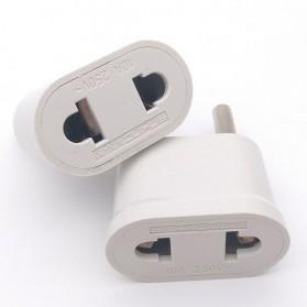 Adapter dan Konverter Travel US to EU 1 PCS - WN-20 - White - 3