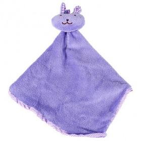 Handuk Gantung Lap Tangan Motif Kartun - Purple