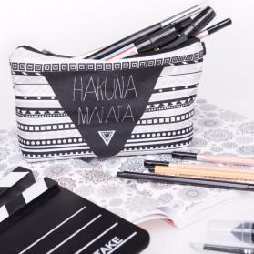 Tas Pouch Makeup Kosmetik 3D Printing - Black White - 2