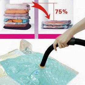 Plastik Vacuum Bag Pakaian Size 110x80cm - Transparent