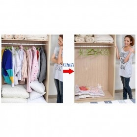 Plastik Vacuum Bag Pakaian Size 110x80cm - Transparent - 2