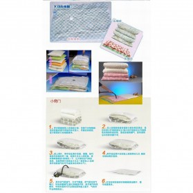 Plastik Vacuum Bag Pakaian Size 110x80cm - Transparent - 6