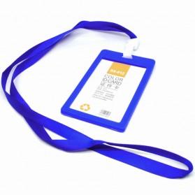 Tag Koper - Name Tag ID dengan Lanyard - Blue