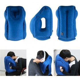 XC USHIO Bantal Travel Inflateable Body Back Support - 0707006 - Blue