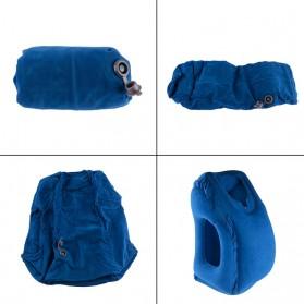 XC USHIO Bantal Travel Inflateable Body Back Support - 0707006 - Blue - 2