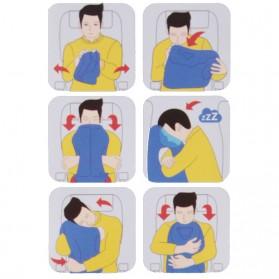 XC USHIO Bantal Travel Inflateable Body Back Support - 0707006 - Blue - 3
