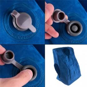 XC USHIO Bantal Travel Inflateable Body Back Support - 0707006 - Blue - 4
