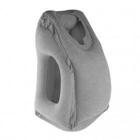 XC USHIO Bantal Travel Inflateable Body Back Support - 0707006 - Blue - 7