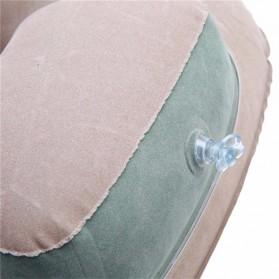 Bantal Leher U-Shape Inflatable Air Blow Up - Blue - 8