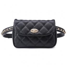 Tas Pinggang Wanita Luxury Waist Bag - 1534 - Black