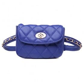 Tas Pinggang Wanita Luxury Waist Bag - 1534 - Blue