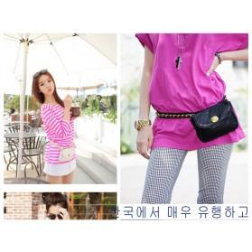 Tas Pinggang Wanita Luxury Waist Bag - 1534 - Blue - 6