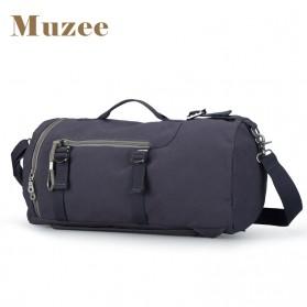 Muzee Tas Duffel Travel 3 in 1 dengan USB Charger Port - ME-1067 - Blue/Black - 2