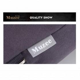 Muzee Tas Duffel Travel 3 in 1 dengan USB Charger Port - ME-1067 - Blue/Black - 4