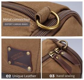 MUZEE Tas Jinjing Duffel Bag Travel - ME-9666 - Black - 6