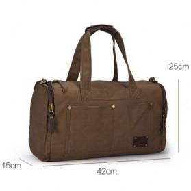 MUZEE Tas Jinjing Duffel Bag Travel - ME-9666 - Black - 7