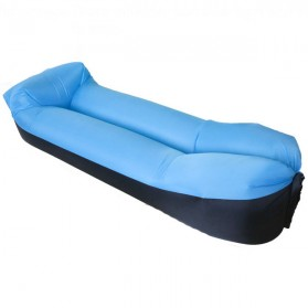 ZXZ Kasur Angin Lamzac Lazy Bean Bag 250 x 70 CM (OEM) - LZ081 - Black Blue