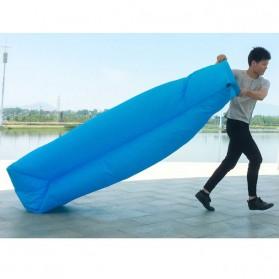 ZXZ Kasur Angin Lamzac Lazy Bean Bag 250 x 70 CM (Replika 1:1) - LZ081 - Black Blue - 4
