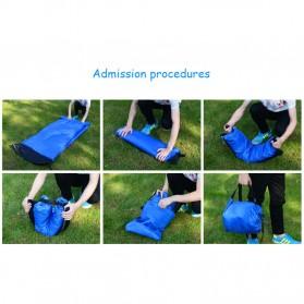 ZXZ Kasur Angin Lamzac Lazy Bean Bag 250 x 70 CM (Replika 1:1) - LZ081 - Black Blue - 8