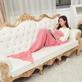 Selimut Rajut Model Putri Duyung 80 X 190 CM - Pink