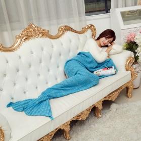 Selimut Rajut Model Putri Duyung 80 X 190 CM - Pink - 6