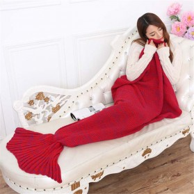 Selimut Rajut Model Putri Duyung 70 X 140 CM - Red