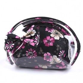 Tas Pouch Makeup Kosmetik Waterproof 3 in 1 - Black