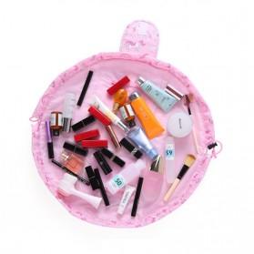 Tas Kosmetik Travel Pouch Drawstring Unicorn - Pink - 3