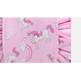 Tas Kosmetik Travel Pouch Drawstring Unicorn - Pink - 4