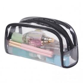 Tas Kosmetik Travel PVC Transparant Size S - Transparent