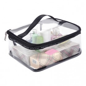 Tas Kosmetik Travel PVC Transparant Size M - Transparent - 1