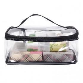 Tas Kosmetik Travel PVC Transparant Size M - Transparent - 2