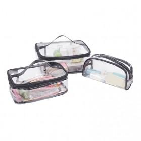 Tas Kosmetik Travel PVC Transparant Size M - Transparent - 5