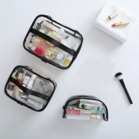 Tas Kosmetik Travel PVC Transparant Size M - Transparent - 6