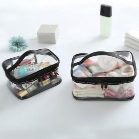 Tas Kosmetik Travel PVC Transparant Size M - Transparent - 8