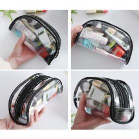 Tas Kosmetik Travel PVC Transparant Size M - Transparent - 9